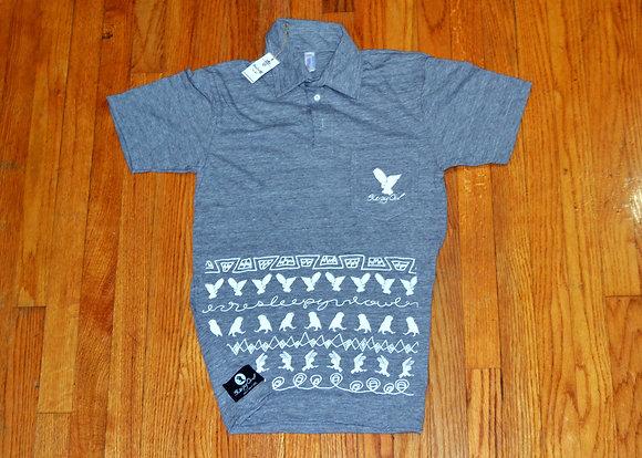 Owl Prowl S/S Leisure Shirt Grey