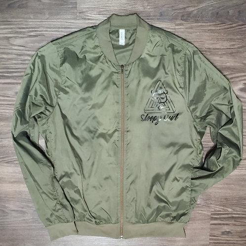 Sleepy Owl zip-front bomber jacket