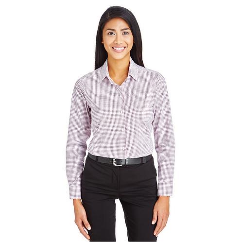 Devon & Jones CrownLux Performance™ Ladies' Micro Windowpane Shirt
