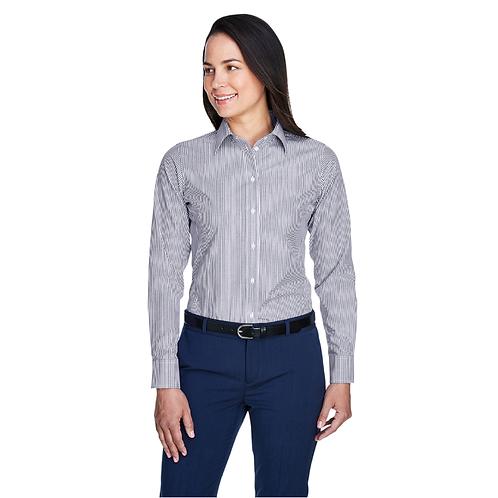 Devon & Jones Ladies' Crown Woven Collection™ Banker Stripe