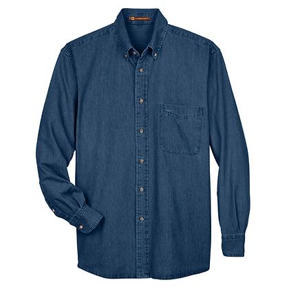 Harriton Men's Long-Sleeve Denim Shirt