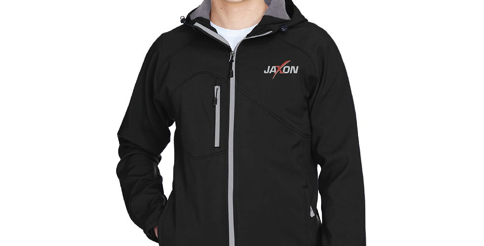North End Men's Prospect Two-Layer Fleece Bonded Soft Shell Hooded Jacket