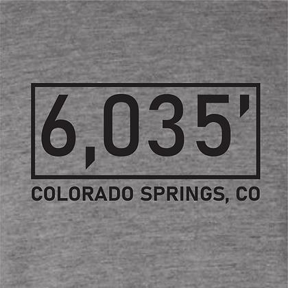 Colorado Springs Elevation Tshirt