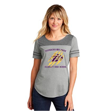Sport-Tek ® Ladies PosiCharge ® Tri-Blend Wicking Fan Tee