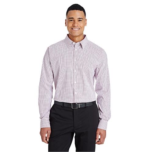 Devon & Jones CrownLux Performance™ Men's Micro Windowpane Shirt