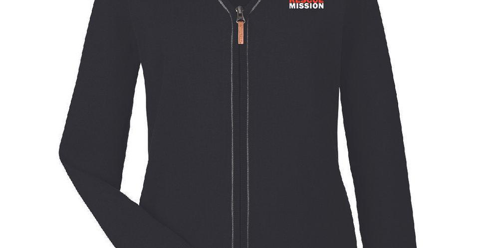 Ladies' Devon and Jones Manchester Fully-Fashioned Full-Zip Cardigan Sweater