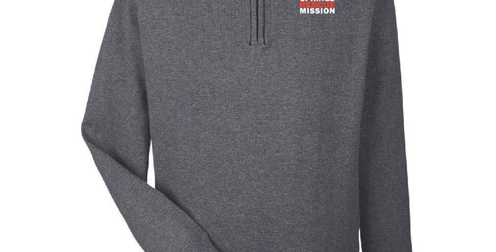 Men's Devon and Jones Manchester Fully-Fashioned Quarter-Zip Sweater
