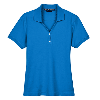 Devon and Jones Ladies' Pima Piqué Short-Sleeve Y-Collar Polo