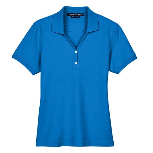 Devon and Jones Ladies' Pima Piqué Short-Sleeve Y-Collar Polo