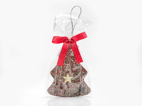 Tree Choc Ornament – Green/Red/Silver  #751061