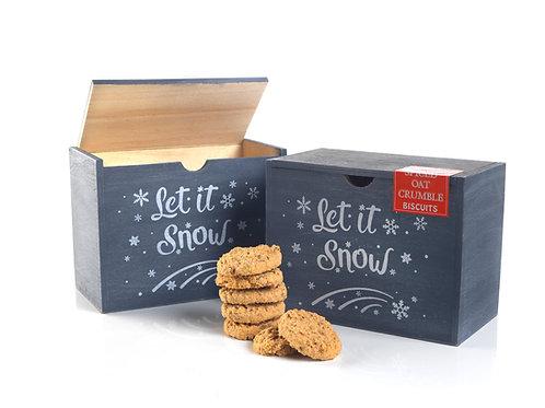 Let It Snow Grey Wooden Box #700