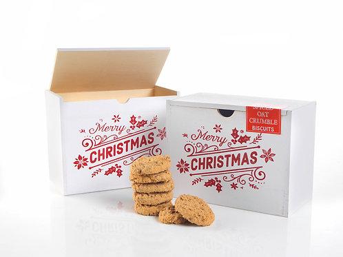 Merry Christmas White Wooden Box #699
