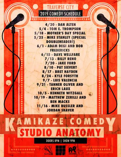 Comedy Calendar Poster