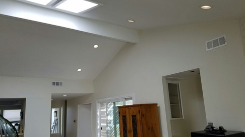 Popcorn removal, skim coating and painting