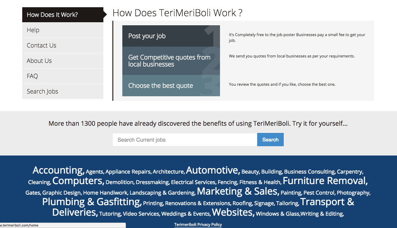 TeriMeriBoli.com Marketplace