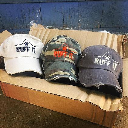 "Vintage Distressed ""RUFF IT"" Hats"