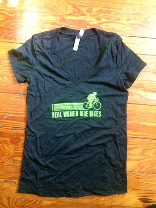 Real Women Ride Bikes V-Neck
