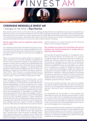 CHRONIQUE MENSUELLE INVEST AM - Novembre 2020