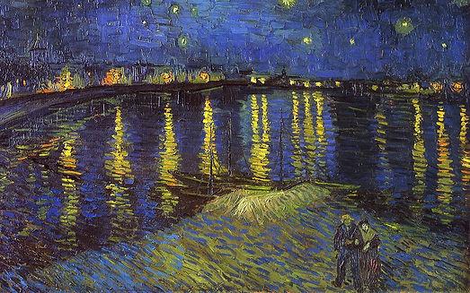 Nuit étoilée sur le Rhône - Vincent Van