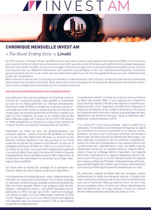 CHRONIQUE MENSUELLE INVEST AM - Octobre 2020