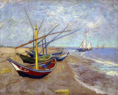 Barques aux Saintes-Maries - Vincent van