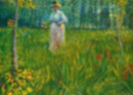 Femme dans un jardin, Vincent van Gogh,