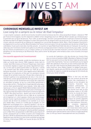 CHRONIQUE MENSUELLE INVEST AM - Février 2021