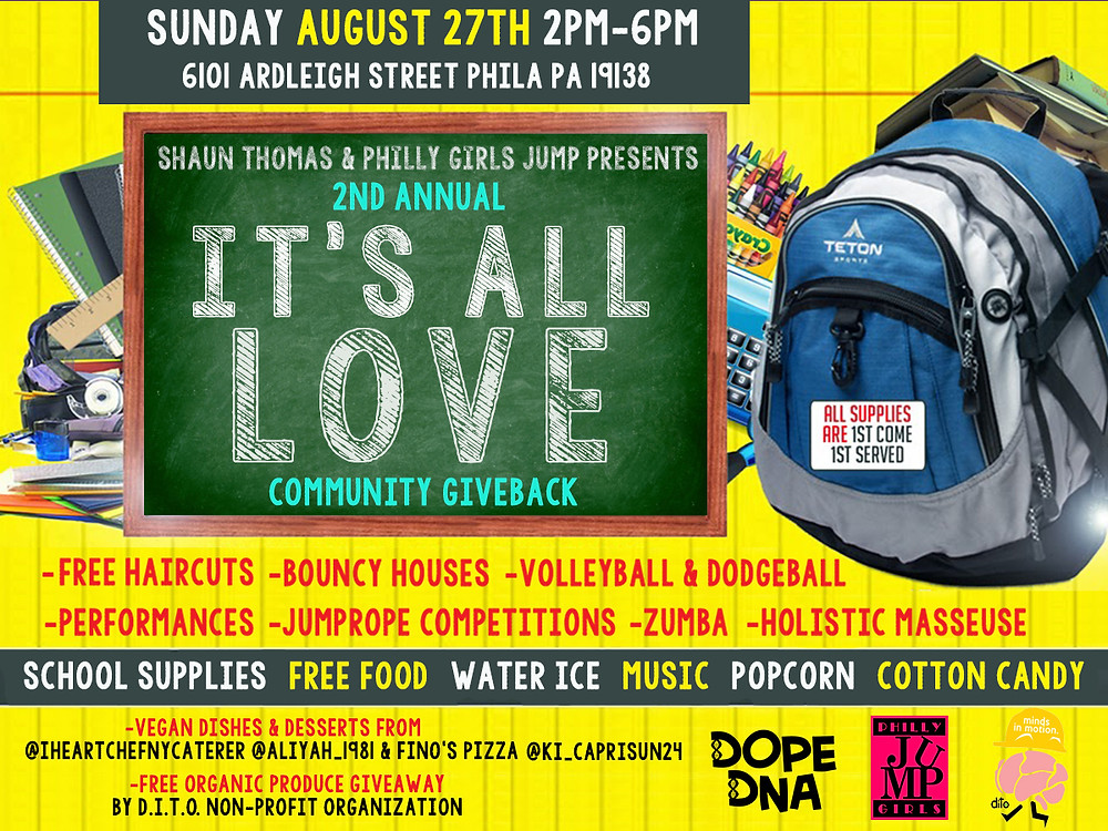 Come out and join D.I.T.O Inc. at It's All Love's back to school giveaway. We'll be bringing our groceries!! Starts at 2pm, get there early. First come first Serve!