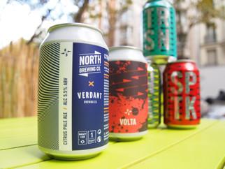 Deux nouveautés chez North Brewing collab. Verdant Brewing co.