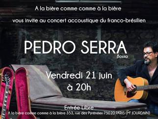 Fête de la musique : Pedro SERRA (bossa) en concert accoustique