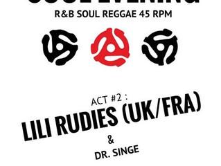 Samedi 18 février : Soul evening act # 2 - Lili Rudies
