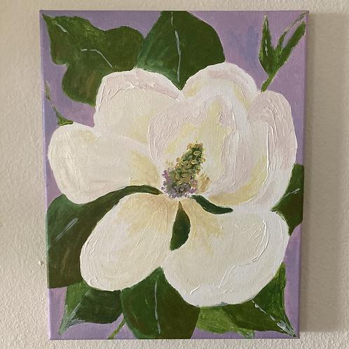 "Magnolia in Lavender (11""x14"")"