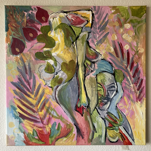 """Queen of the Jungle Emerging (18""""x18"""")"""