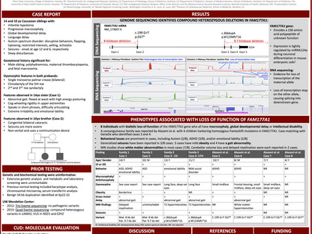 FAM177A1 Poster Presented at Medical Genetics Conference