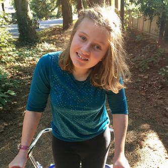 Charlotte walking post surgery