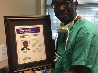 "In the News!...  Lee Memorial Health Systems Awards Dr. Sagini as ""Physician of the Month"""