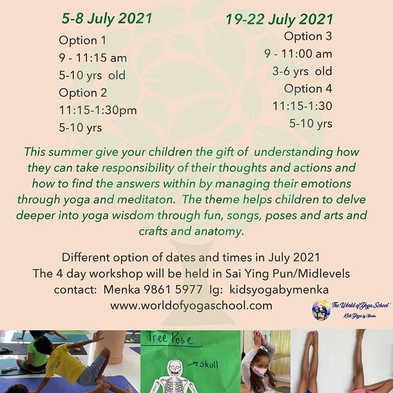 July 2021 Kids Yoga Camp Details