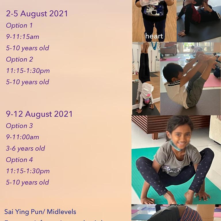 Kids Yoga Summer Camp Aug 2021 Details
