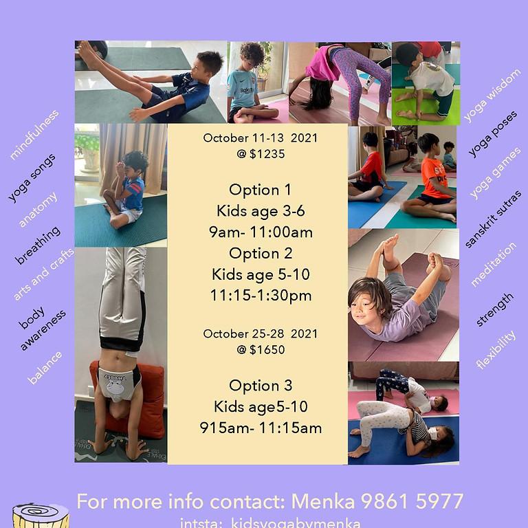 Kids Yoga Half Term Oct 2021