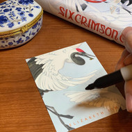 Six Crimson Cranes bookplate