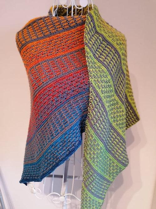 Farbenspiel-Tuch Set Wolle mit Anleitung