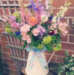 Rustic Jug of Flowers