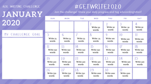 31-day January 2020 writing challenge
