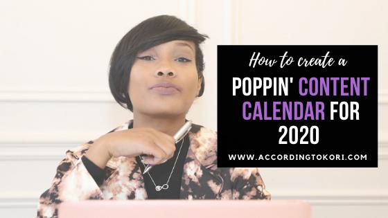 How to create a 2020 content calendar