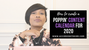 How to create a 2020 content calendar