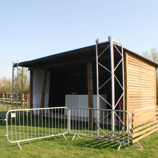 Large outdoor stage