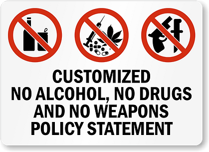 no-alcohol-weapons-custom-sign-s-3671.pn