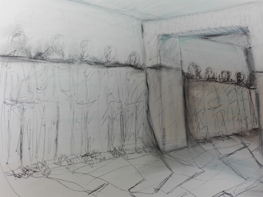 boceto para sala art room