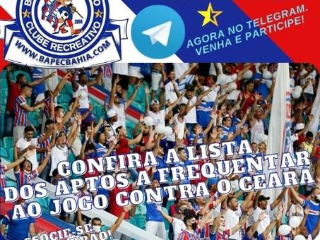 Lista dos Aptos: Confira os sócios com acesso garantido para Bahia x Ceará