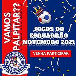VAMOS PALPITAR  / JOGOS DO ESQUADRÃO